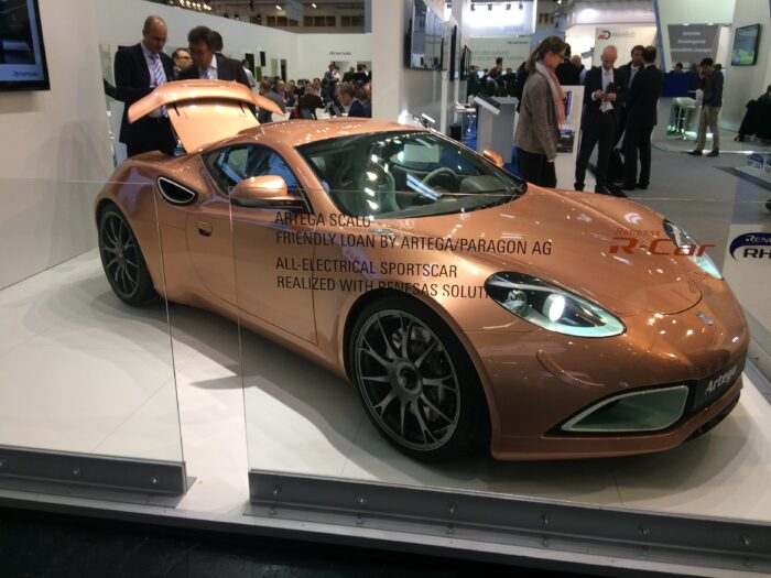 A really cool Artega Saclo all-electric sports car using Renesas solutions